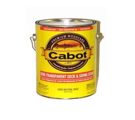 cabot semi transparent deck siding stain  series