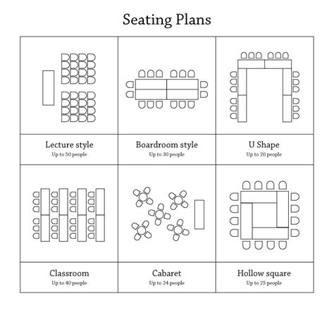 u shaped classroom seating chart template education centre booking form
