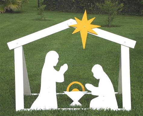 Diy Outdoor Nativity Templates Youtube Nativity Yard Sign Template