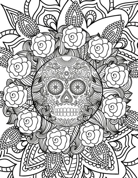 adult halloween coloring pages coloring home