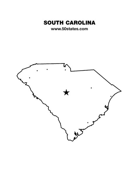 blank map south carolina south carolina map