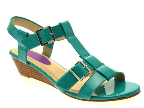 wedge strappy sandals womens patent low wedge strappy sandals summer