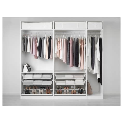 armadi pax pax wardrobe white 250x58x236 cm ikea
