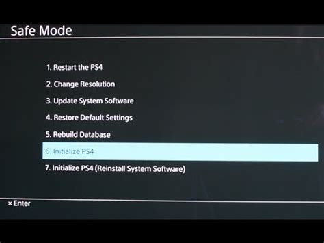 factory reset the ps4 how to reset your ps4 to factory settings youtube