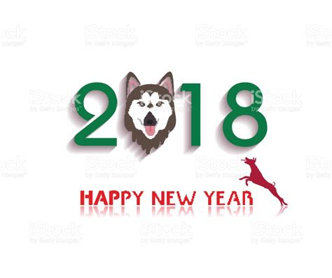 new year animals vector happy new year 2018 year of stock vector more