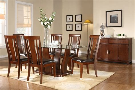 glass dining room tables fresh 3 essential considerations cherry finish glass top modern dining table w optional items