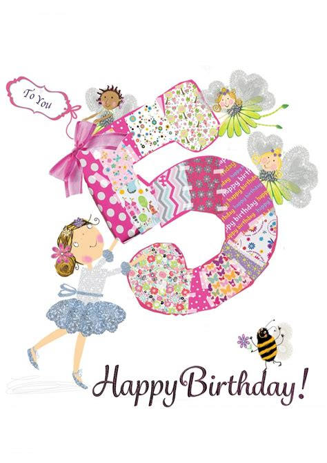 Birthday Quotes For 5 Year Choosey Greetings Cards Happy 5th Birthday