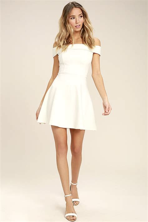 Dress Model Black White Impor white dress the shoulder dress lwd skater dress 52 00