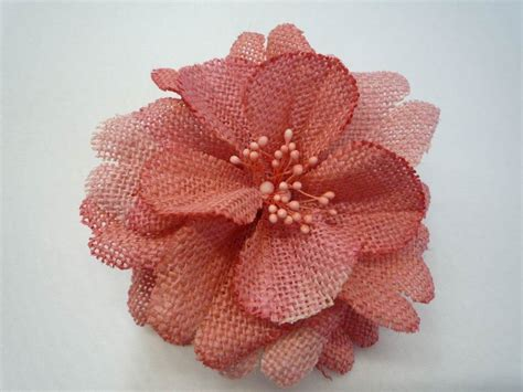 Handmade Fabric Flower - textile flowers plus free fabric flower give away