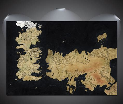 World Map 3 A0 of thrones westeros map large poster a0 a1 a2