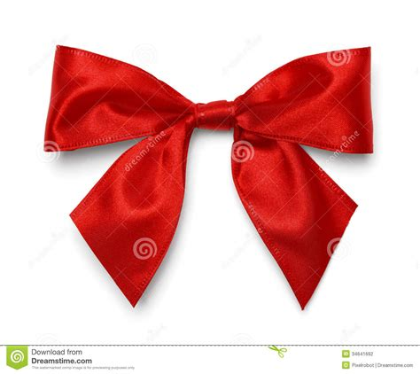 red satin bow stock photography image 34641692
