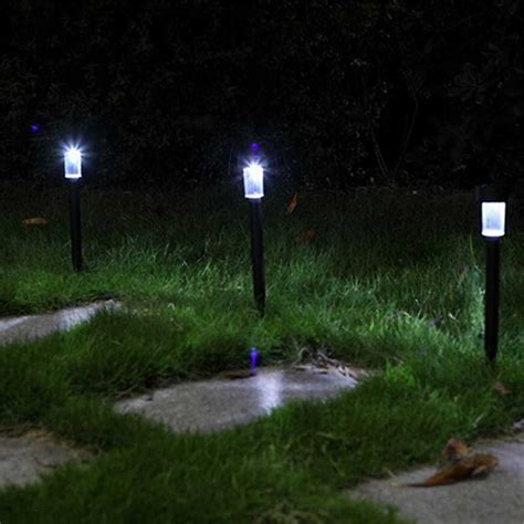 light lawn stakes set of 4 white solar lights yard stakes garden lawn