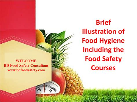 Brief Illustration Of Food Hygiene Including The Food Food Safety Ppt Templates Free