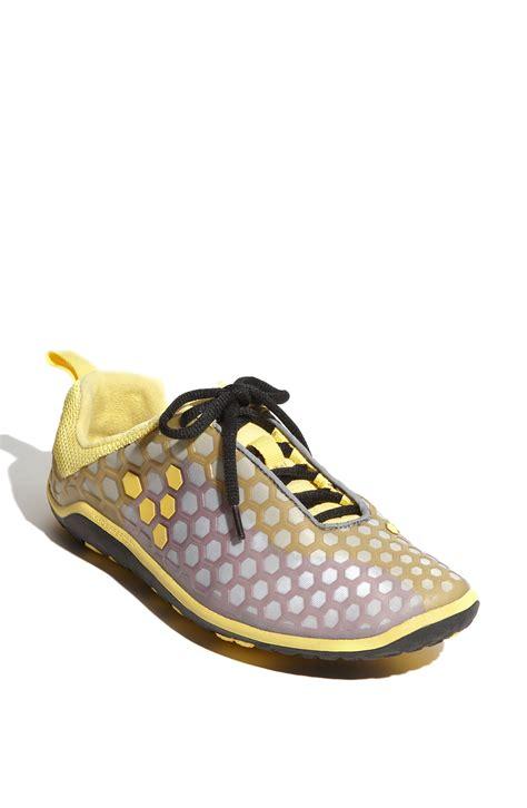 minimal shoes vivobarefoot evo minimal running shoe in yellow lyst