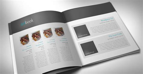 catalog template artbook stockindesign