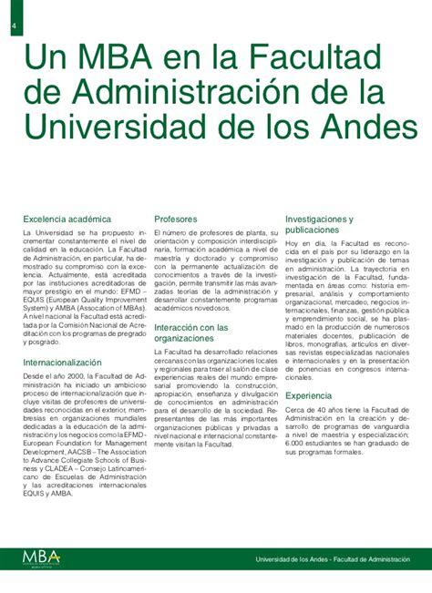 Mba Universidad De Los Andes by Folleto Emba 3