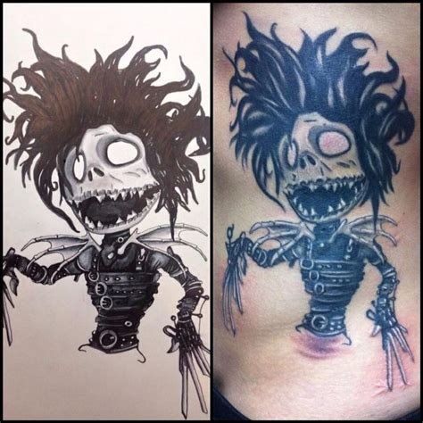 jack skellington tattoo edward scissor skellington