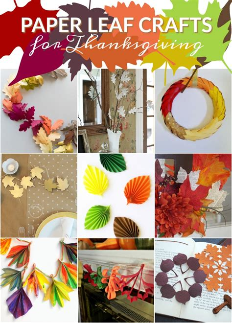 paper leaf decorations  thanksgiving  ups mad