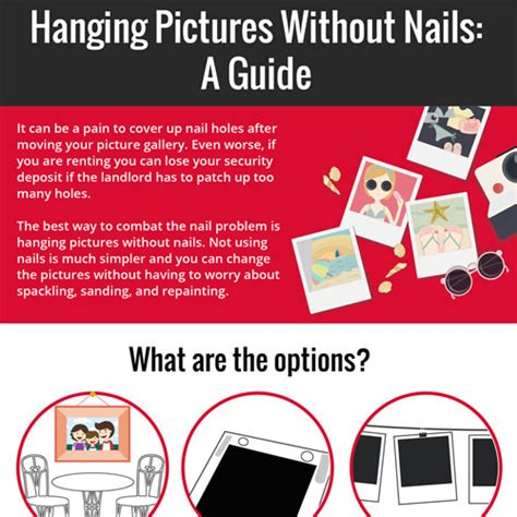 how to hang without nails how to hang pictures without nails infographicbee com