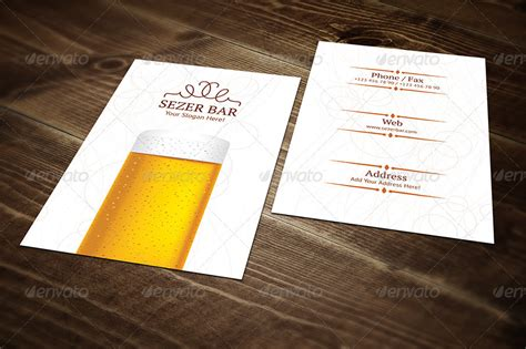 half fold beer menu template by erseldondar graphicriver