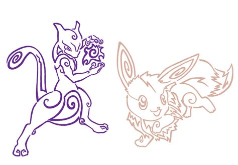 mewtwo tattoo mewtwo and eevee tattoos by aerpenium on deviantart