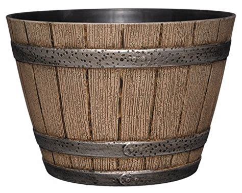 Whiskey Barrel Planter Drainage by Whiskey Barrel Planter Distressed Oak 9 Quot