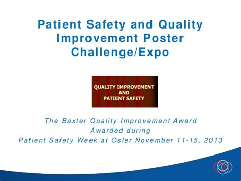 patient safety and quality improvement poster challenge expo