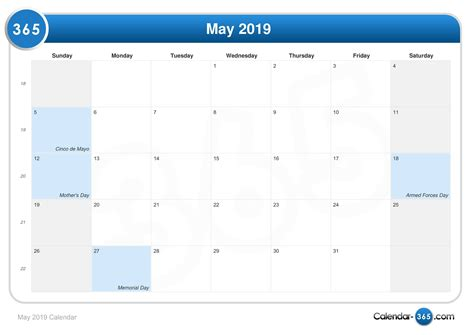 may 2019 calendar may 2019 calendar with holidays yearly printable calendar