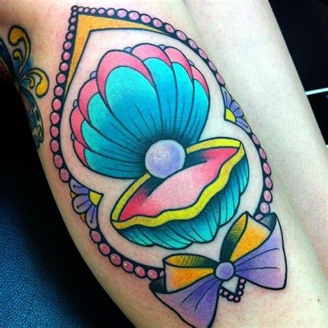 clam tattoo girly traditional tattoos girly