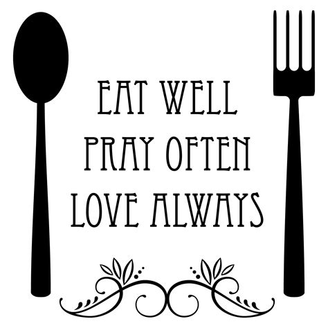 Greek Key Home Decor by Eat Well Spoon And Fork Wall Quotes Decal Wallquotes Com