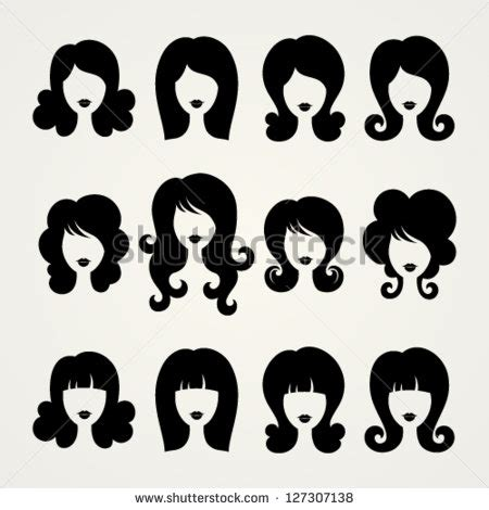 Twist Hairstyle Tools Clipart Images by Vector Silhouettes Stock Vector 127307138