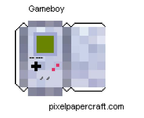 Gameboy Papercraft - papercraft gameboy