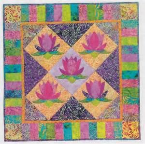 Lotus Quilt Pattern Virginia Robertson Designs Excusively For Bali Fabrics