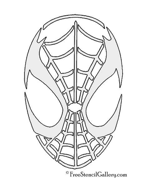 spiderman pattern for pumpkin spiderman mask stencil free stencil gallery