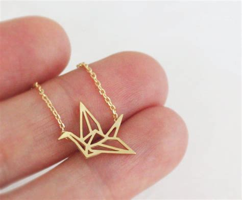 origami bird necklace origami bird necklace in gold on luulla