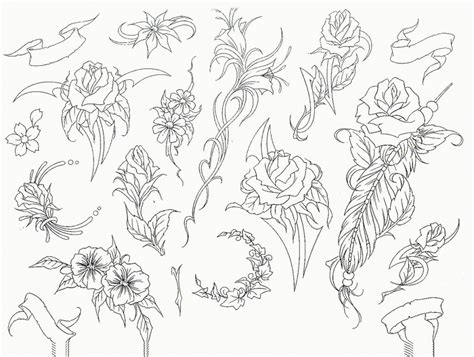 free tattoo designs stencils hawaiian flower tattoos on shoulder free downloads