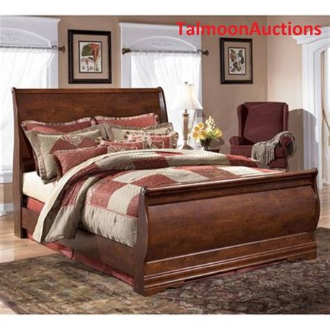 full size sleigh bedroom sets queen size sleigh bed bedroom furniture wood