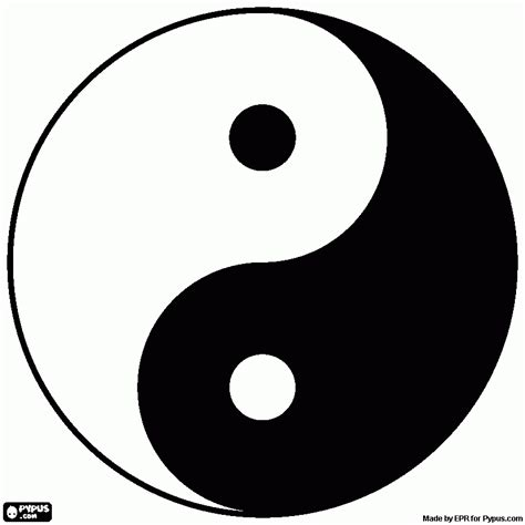 what color is yin yin and yang coloring page printable yin and yang