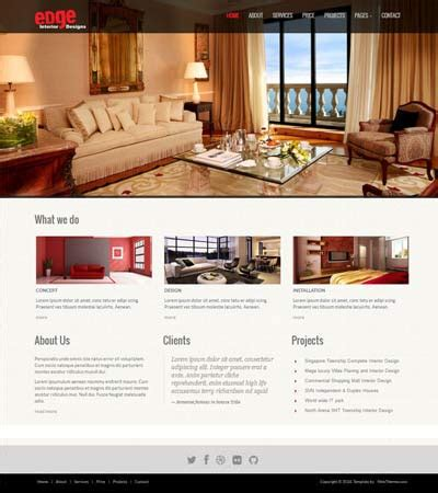 interior design website template interior design responsive website templates edge