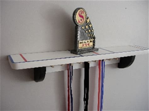 4 shelf for hockey trophies and medals