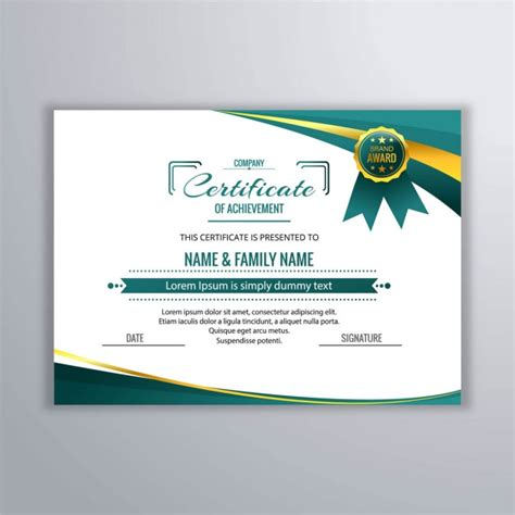 certificate design template certificate design vectors photos and psd files free