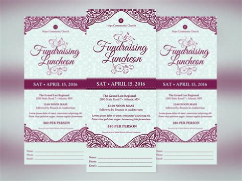 Fundraising Letter Ps Fundraising Luncheon Ticket Template Templates