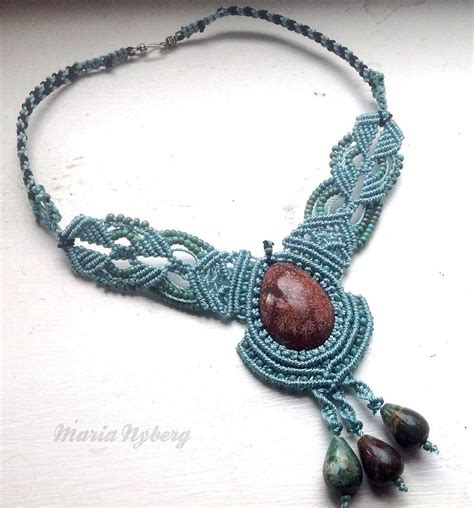 Micro Macrame Patterns - macrame necklace micro macrame 编结 macrame