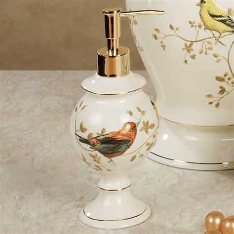 stoneware bathroom accessories gilded bird ceramic bath accessories
