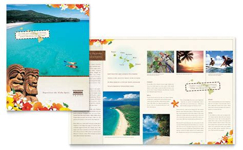 microsoft word travel brochure template hawaii travel vacation brochure template design