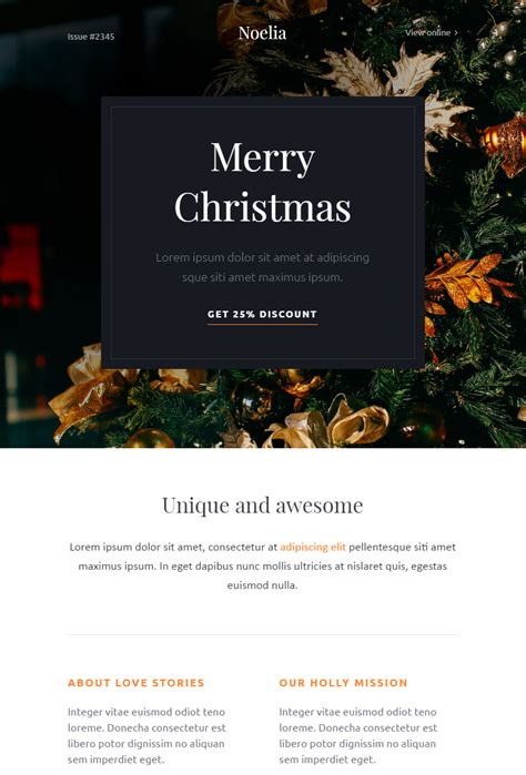 christmas email themes free christmas email templates for the upcoming holiday mailing