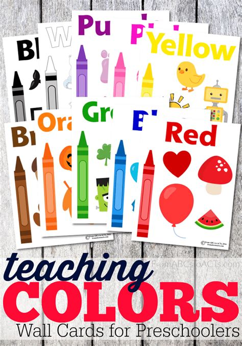 teaching colors to toddlers teaching colors wall cards for toddlers from abcs to acts