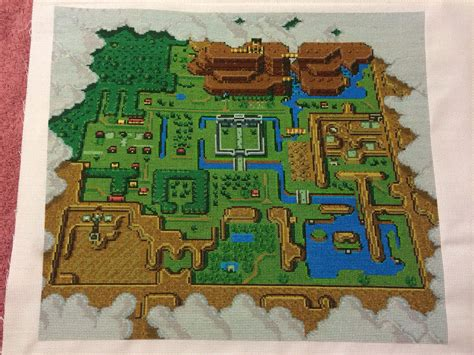 Legend Of Zelda Map Cross Stitch | global geek news tag archive cross stitch
