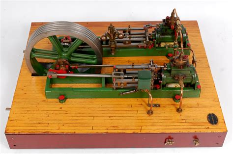 stuart twin victoria live steam engine at ataf club tessin stuart turner twin victoria engine with additional