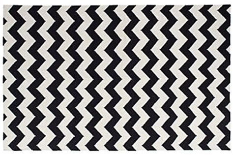 black and white zig zag rug design plan a trendy glam home office designed w carla aston